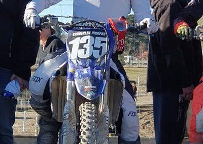Cody on the start line on Sunday